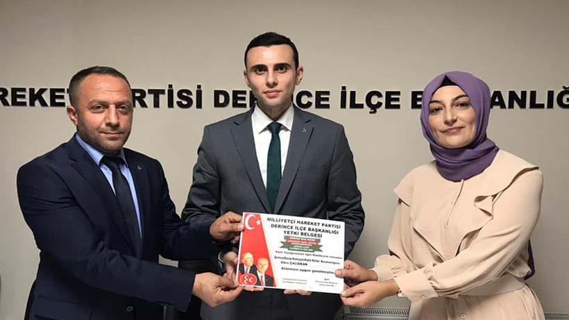 MHP Derince'de, Kadın Kollarına Ebru Çalışkan Atandı