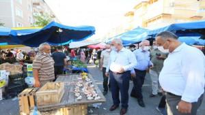 Başkan Aygün,Pazarcı esnafını ziyaret etti
