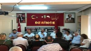 Tarhan'dan CHP Derince'ye ziyaret